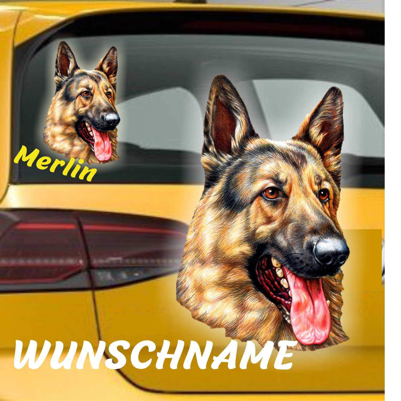 Deutscher Schäferhund Hunde Autoaufkleber
