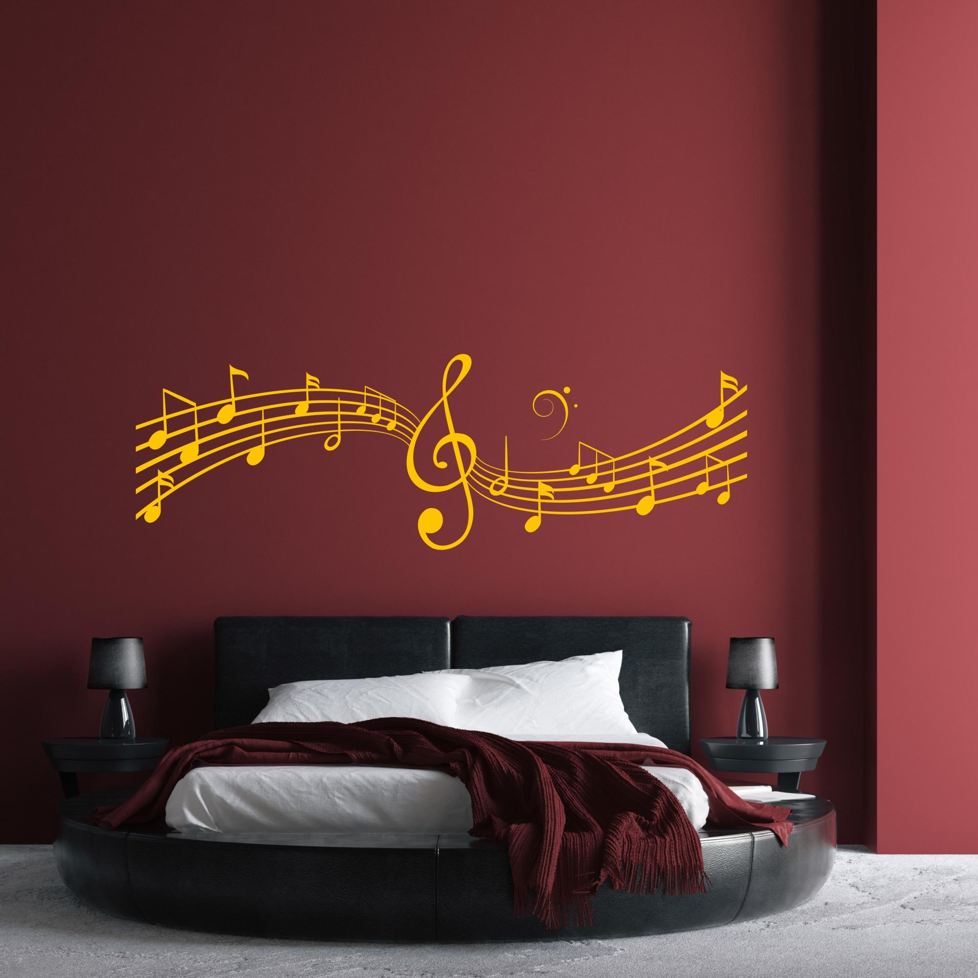 wandaufkleber noten notenschlüssel wandtattoo musik