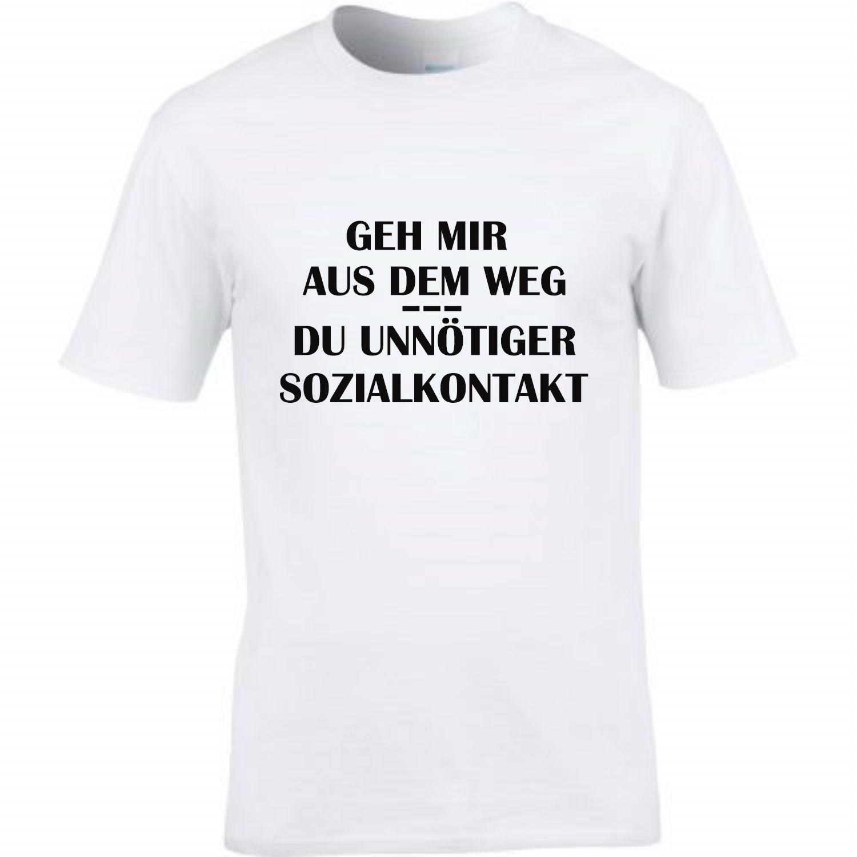T-Shirt Spruch Geh mir aus dem Weg unnötiger SOZIALKONTAKT Corona Abstand Fun Shirt