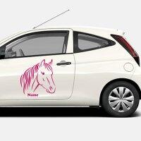 Pferdeaufkleber Autoaufkleber Pferd mit Namen