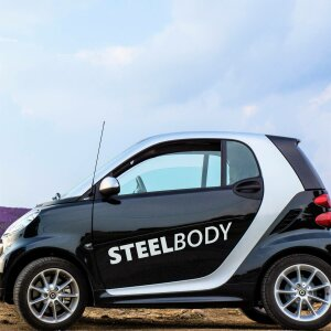Autoaufkleber Steelbody Schriftzug Fitness Gym Sticker