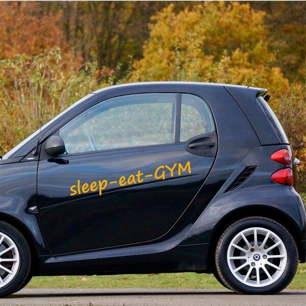 Autoaufkleber sleep-eat-GYM Sticker Aufkleber Fahrzeug Gym Fitness
