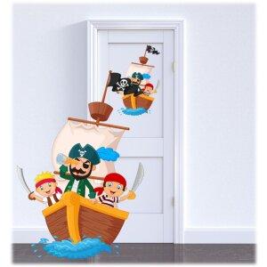 Kinderzimmer Piratenaufkleber ,für kleine Piraten toller Wandtattoo/ Aufkleber