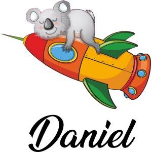 Aufkleber Kinderzimmer Koalabär Bär mit Namen