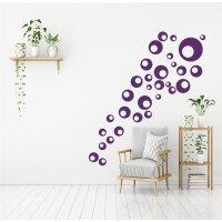 Retro Aufkleber Dots Set, Bubbles Wandtattos zum Dekorieren für Möbel 31 Stück