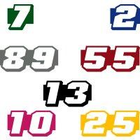 Startnummer 2 x Autoaufkleber Auto & Motorrad Startnummern verschiedene Größen