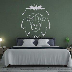 Wandtattoo mit Löwenkopf Wandtattoo in verschiedenen Größen