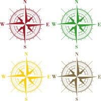 Aufkleber Kompass Wohnmobil Wohnwagen