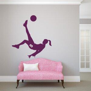 Wandtattoo Fußball Mädchen