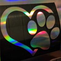 Autoaufkleber Hunde Pfote Aufkleber Hologramm Oil Slick