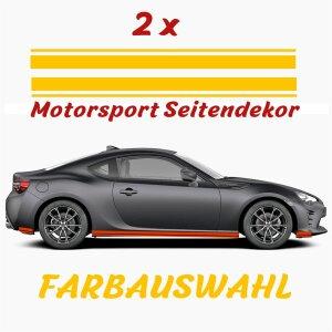 Seitenstreifen Aufkleber Rennstreifen Rallye Streifen...