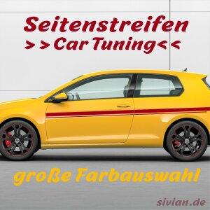 Seitenstreifen Aufkleber Rennstreifen Rallye Streifen Autoaufkleber