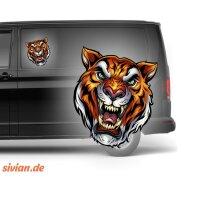 Tiger Kopf Aufkleber Autoaufkleber 20 cm