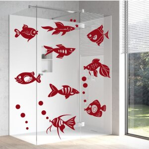 Aufkleber Fische Unterwasserwelt Badezimmer