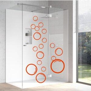 Aufkleber Blubber Blasen Set Badezimmer