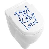 Aufkleber Badezimmer Pipi Kaka Land