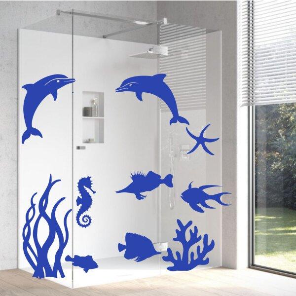 Aufkleber Delphin Unterwasserwelt Badezimmer