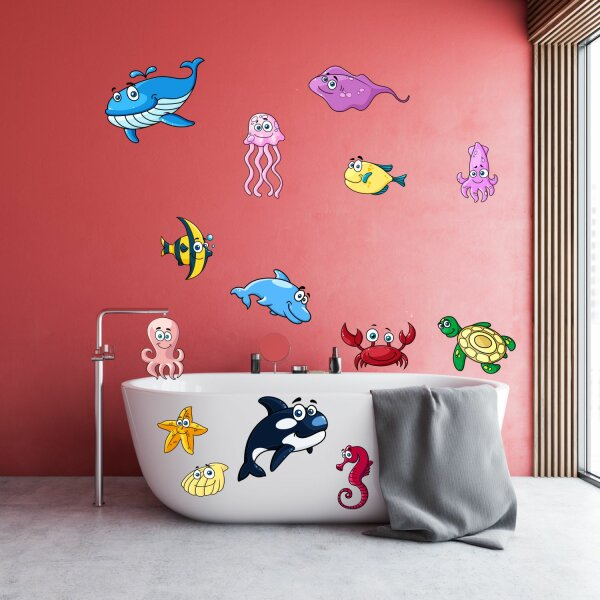 Lustige Badezimmer Fliesen Aufkleber