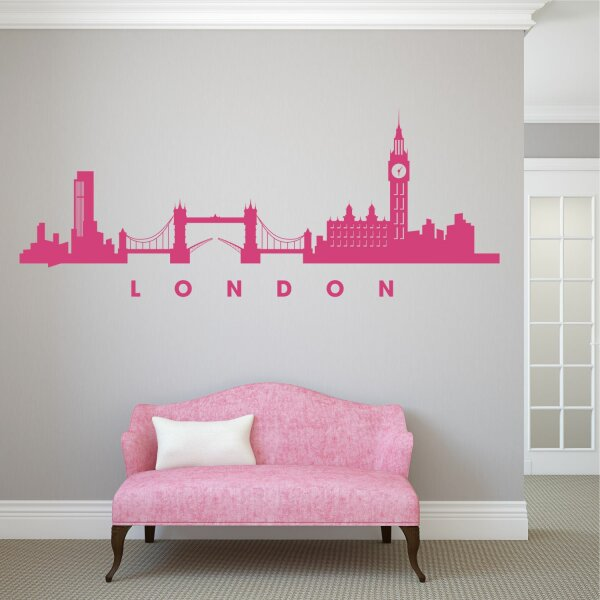 Wandtattoo London Skyline