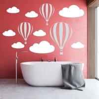 Wandtattoo Ballons Wolke Heißluftballon