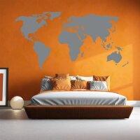 Wandaufkleber Weltkarte Wandtattoo Kontinente