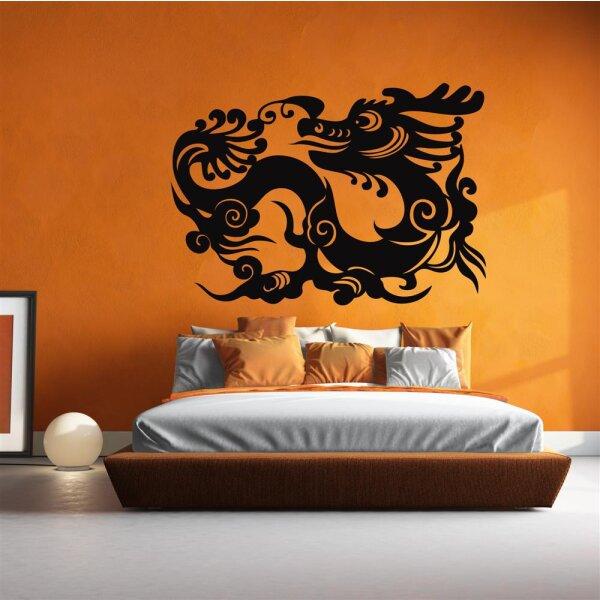 Wandaufkleber Chinesischer Drache Drachen Wandtattoo