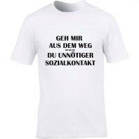 T-Shirt mit Spruch unnötiger Sozialkontakt