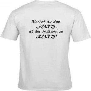T-Shirt mit Spruch Riechst du den Furz,ist der Abstand zu...