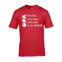T-Shirt mit Spruch Opa hat, kann, weiß alles - ist der Beste