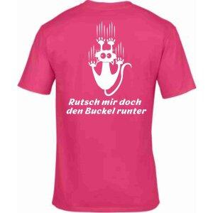 T-Shirt mit Spruch Rutsch mir doch den Buckel runter