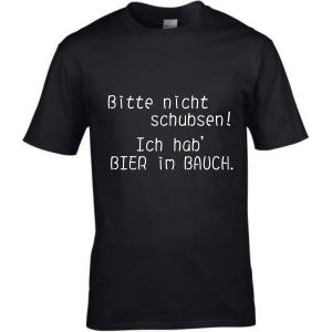 T-Shirt & mit Spruch Bitte nicht schubsen! Ich hab...