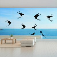 Fenster Aufkleber Fensterbild Vögel Warnvögel Schwalbe