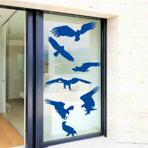 Fenster Aufkleber Fensterbild Vögel Warnvögel...