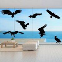 Fenster Aufkleber Fensterbild Vögel Warnvögel Adler