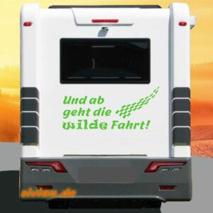 Aufkleber Wilde Fahrt Wohnmobil