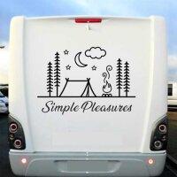 Aufkleber Wohnmobil Simple Pleasures