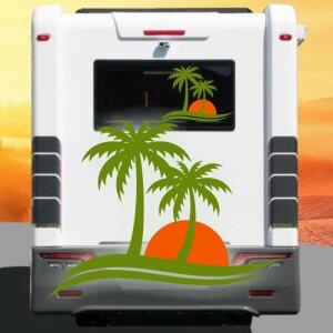Aufkleber Palme Wohnmobil