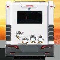 Aufkleber Wohnmobil Pinguine 4er Set