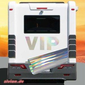 Aufkleber VIP Wohnmobil Hologramm Oil Slick