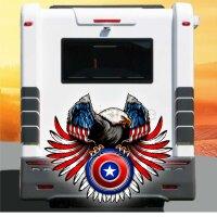 Aufkleber Weißkopf Seeadler USA