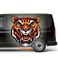 Tiger Kopf Aufkleber Autoaufkleber