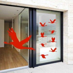 Fenster Aufkleber Fensterbild Warnvögel Gänse...