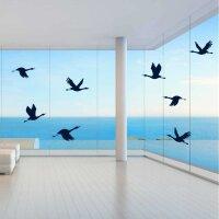 Fenster Aufkleber Fensterbild Warnvögel Gänse Enten