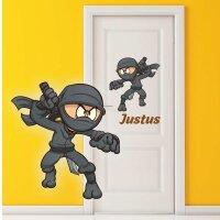 Aufkleber Ninja mit Wunschtext