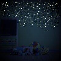 Aufkleber LEUCHTENDE Sterne & Punkte 371 Stück