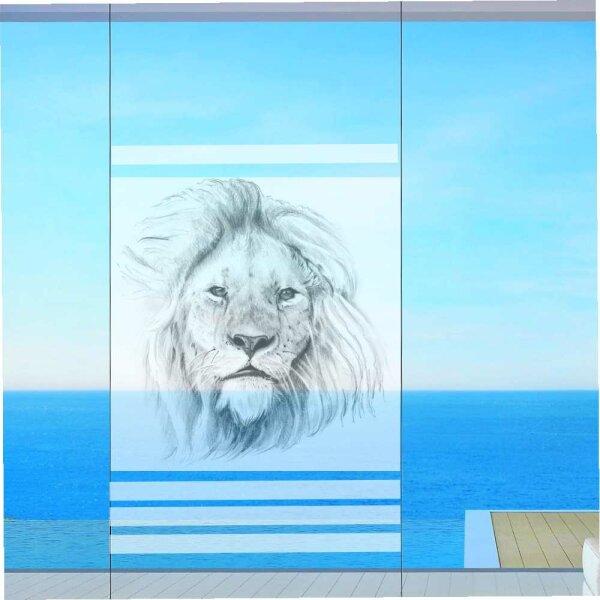 Fenster Sichtschutz Löwe Milchglasfolie