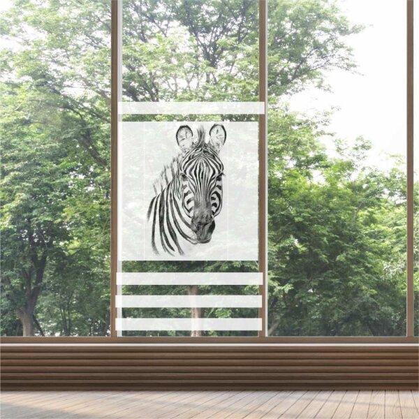 Fenster Sichtschutz Zebra Milchglasfolie