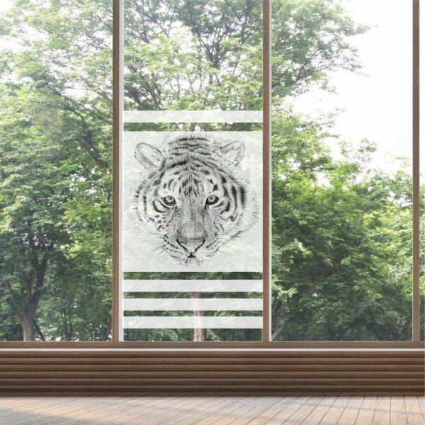 Fenster Sichtschutz Tiger Milchglasfolie