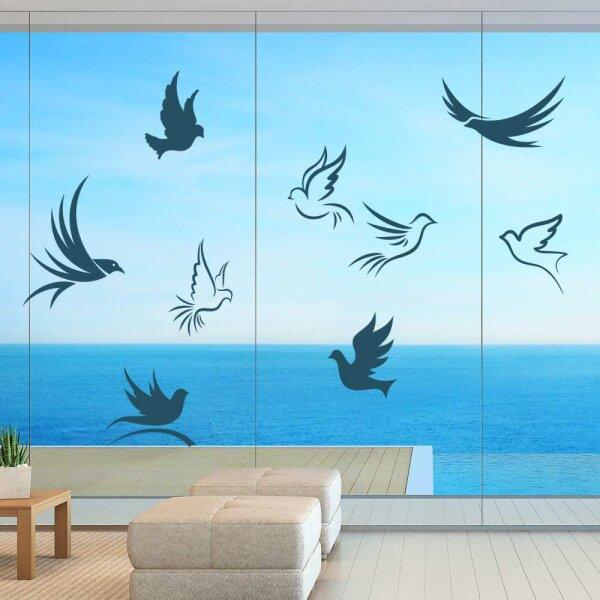 Fenster Aufkleber Warnvögel Tauben