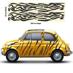 Seitenstreifen Zebra Muster Camouflage Auto Aufkleber